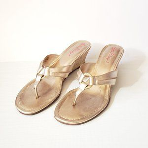 Lilly Pulitzer Gold Sandals Size 9.5